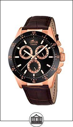 Lotus 18158/4 - Reloj de pulsera hombre, Cuero, color Marrón de  ✿ Relojes para hombre - (Gama media/alta) ✿