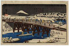 Hiroshige | Nihonbashi in the snow