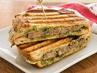 Italian Pork Panini - use left over pork roast or tenderloin rather than the processed Smithfield strips