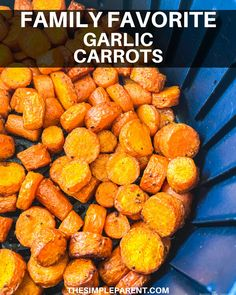 These savory carrots are simple to make in the air fryer! Save time and get a delicious side dish that your family will be asking for again and again! Carrot Recipes, Easter Recipes, Whole Food Recipes, Side Dish Recipes, Side Dishes, Carrots Side Dish, Garlic Parmesan, Fried Garlic, Healthy Snacks