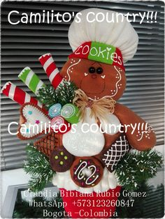 Christmas Wreaths, Christmas Crafts, Christmas Ornaments, Ginger Cookies, Nativity, Gingerbread, Lily, Country, Holiday Decor