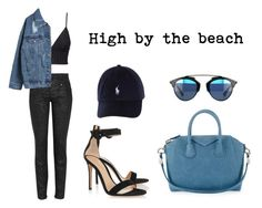 """""""High by the beach"""" by anaelle2 ❤ liked on Polyvore featuring H&M, Versace, Givenchy, Gianvito Rossi, StreetStyle, Dior, versace and StreetChic"""