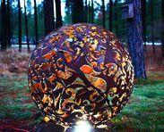 Metal sculpture, BAFCO - THE BIG ASS FISH COMPANY ANCHORAGE, AK JODY BARTON Christmas Bulbs, Action, Fish, Sculpture, Lights, Holiday Decor, Metal, Home Decor, Group Action