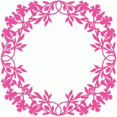Silhouette Design Store - View Design #73113: vintage floral frame