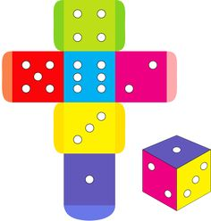 Find Colorful Dice Box Template Vector Illustration stock images in HD and millions of other royalty-free stock photos, illustrations and vectors in the Shutterstock collection. Patron Cube, Heart Coloring Pages, Toy House, Baby Clip Art, Mothers Day Crafts For Kids, Diy Gift Box, Paper Packaging, Craft Box, Baby Scrapbook