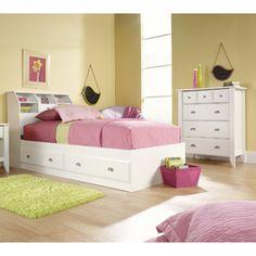 Sauder Shoal Creek 3 Piece Bedroom Set, Soft White