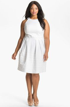 Calvin Klein Seamed Fit & Flare Dress (Plus) available at #Nordstrom