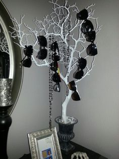 My incomplete sunglass tree.( to match everything else on my vanity I might cover something like this in Hot pink glitter :) )