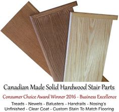 Hardwood Stairs and Railings - Stair Parts - Solid Wood Treads