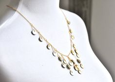 Coin bubble Necklace Made in the UK from by SlinkyLinksJewellery Coin Necklace, Necklace Sizes, Thin Chain, Bubble Necklaces, Made In Uk, Gold Leather, Looking Gorgeous, Brown Suede, Happy Shopping