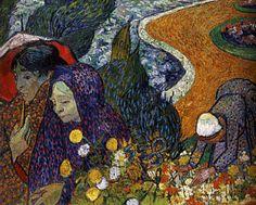 1888 Vincent Van Gogh Souvenir du jardin d'Etten Huile sur Toile 73x92 cm Saint-Petersbourg, musée de l'Ermitage