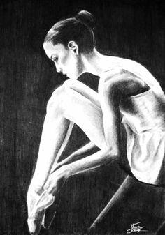 Ballet. Black and white.