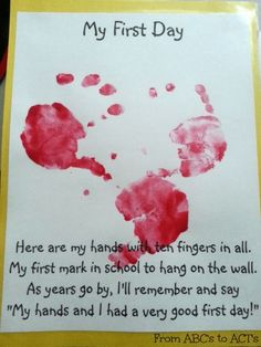 My first day hand print painting for the first day of tot school.