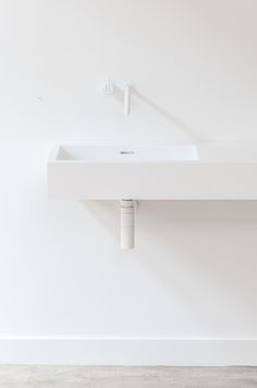 Make your bathroom the favourite place in your house! Base basin with white Vola tap. #notonlywhite