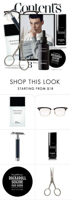 """""""Men's Grooming Products"""" by cultofsharon ❤ liked on Polyvore featuring beauty, Christian Dior, Thom Browne, Triumph & Disaster and Tweezerman"""