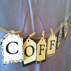 A wedding coffee bar.  STILL CUTE FOR OUR COFFEE BAR!
