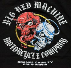 Hells Angels. Big Red Machine Motorcycle Company shirt from 1999! This dude is one of my favorite sellers. I cannot believe he has this shirt.