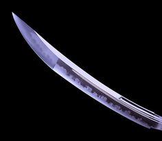 The authentic hamon of a real Japanese Nihonto Katana Sword