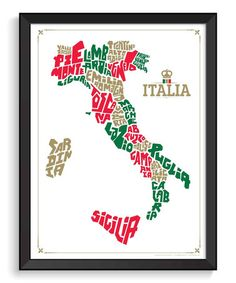 Another great find on #zulily! Italy Hand-Lettered Map by I Lost My Dog #zulilyfinds