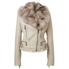 Image detail for -Womens Leather Jackets With Fox Fur Vest Coats Sheepskin jacket Lamb ... found on Polyvore