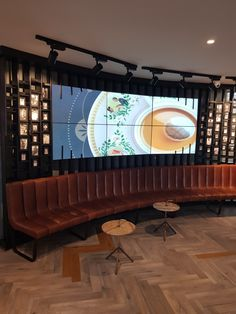 Reception printer-screen wall of fame. Coffee shop and informal meeting space design for FCB Africa by Design Partnership. Wall Of Fame, Interior Photography, Hospitality Design, Restaurant Design, Contemporary Design, Coffee Shop, Architecture Design, Printer, Reception
