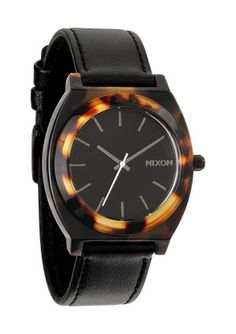 Nixon Time Teller Acetate Leather Watch in Tortoise - $150.00