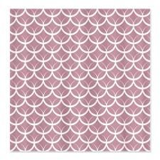 Lavender Circle Pattern Shower Curtain