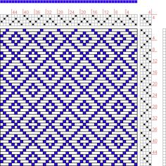 Hand Weaving Draft: Figure 646, A Handbook of Weaves by G. H. Oelsner, 4S, 4T - Handweaving.net Hand Weaving and Draft Archive