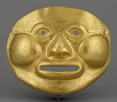 Mask, 1st century b.c.–1st century a.d.  Colombia  Gold