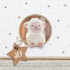 Schaapje - Babykaartje www.carddreams.be