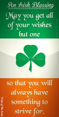 Irish Blessing ...