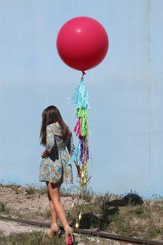 huge balloon plus tassels