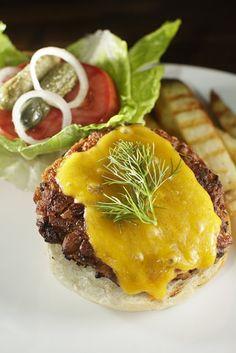 The Chubby Vegetarian: Simple and Easy Porcini Mushroom Veggie Burgers