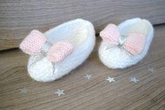 Chaussons ballerines pour bébé fille - fabrication française 100% fait main  Idéal en cadeau de e2cc27b2873