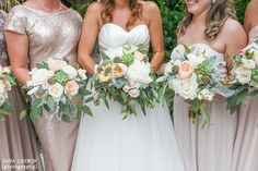 Organic, free flowing and wild, these bouquets by @ecochicblossoms were the perfect accent to the shades of neutral dresses chosen by these bridesmaids.  www.OrchidIslandEvents.com