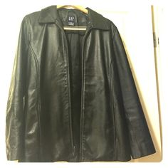 Gap Women's Genuine leather jacket. New! Never worn. Genuine leather. GAP Jackets & Coats Blazers