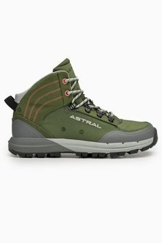 For nearly two decades, Astral Boots has focused on low-impact and high-quality, sustainable footwear. All Astral hiking boots are vegan and produced in Vietnam and China under fair working conditions. These trail shoes are lightweight, ventilated, and water-ready, whether you're wading through rivers or climbing rocky mountains // The Good Trade // #thegoodtrade #clothing #fashion #ecoconscious #vegan #hiking #hikingboots #boots #outdoors Vegan Hiking Boots, Ethical Shoes, Best Trade, Ethical Brands, Trail Shoes, Vegan Shoes, Rocky Mountains, Rivers, Vegan Leather