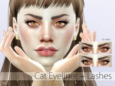 Eyeliner in 15 colors.  Found in TSR Category 'Sims 4 Female Eyeliner'