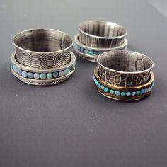 Dana Evans Studio Blog: New Spinner Rings - channel set - TUTORIAL