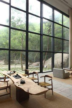 "Xu Fu-Min creates ""paradise-like house"" in China that brings landscape in:"