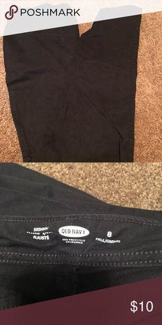 Old Navy Skinny Khahi Black 8 Tall Gently worn Pants Skinny