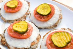 Healthy bunless burgers use chicken instead of beef! #healthy #burger #recipe
