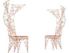 pylon chair Design Tom Dixon, 1992 Steel wire, natural aluminum Made in Italy by Cappellini