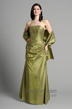 A-line Strapless Floor-length Taffeta Bridesmaid Dresses 14305326
