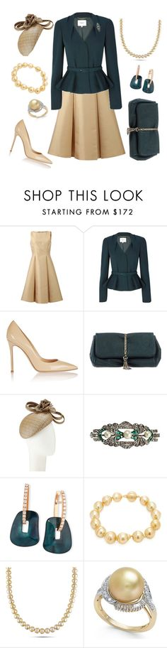 """""""Exhibit Opening"""" by nmccullough ❤ liked on Polyvore featuring Michael Kors, Gianvito Rossi, Space Style Concept, Whiteley, Mattioli and Baggins"""