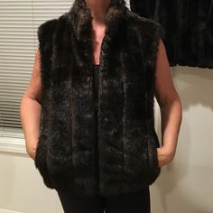 Brown faux fur vest In EUC, hardly worn. Jackets & Coats Vests