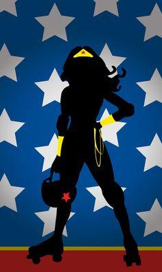 Wonder Woman Roller Derby Style