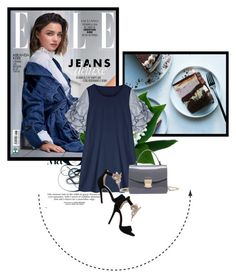 """Rosegal navy dress"" by fashion-all-around ❤ liked on Polyvore featuring Baku, Kerr® and rosegal"
