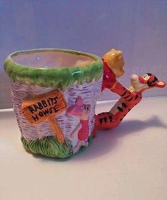 Winnie the Pooh Disney Ceramic Figural Coffee Mug 100 Acre Collection