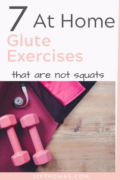 Squats are great but they can really be hard on the knees. Since so many of us at stuck at home working out I am sharing 7 booty building exercises that are not squats. Home Exercise Program, Home Exercise Routines, At Home Workout Plan, Workout Programs, At Home Workouts, Daily Exercise, Workout Schedule, Workout Routines, Workout Ideas